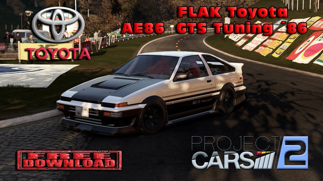 video project cars 2 1986 flak toyota ae86 gts tuning mod download in the album project. Black Bedroom Furniture Sets. Home Design Ideas