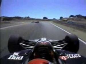 Alex Zanardi's last lap pass at Laguna Seca