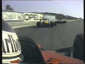 Gerhard Berger kicking it in 1989 with a V12