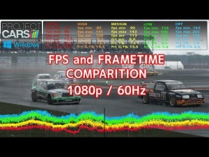 Project CARS | LAG HUNTER CHALLENGE 1 | FPS and FRAMETIME comparition | 1080p 20AI's + RAIN