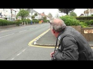 A father's reaction to flying by Isle of Man TT racers