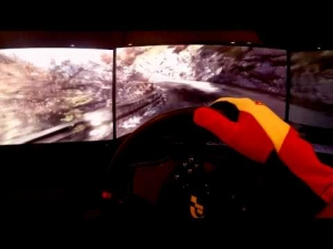 DiRT Rally - Ultra Settings - Early Access - Monte Carlo - Onboard Thrustmaster Triple Screen