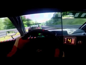 Assetto Corsa - Nissan GT-R Overtaking Rivals @ Nordschleife - Triple Screen Gopro Thrustmaster
