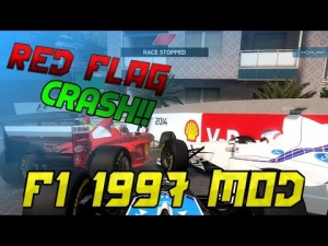 F1 1997 Mod Gameplay - RED FLAG CRASH!! - PAY FOR MODS?! - F1 2014 Mod 2015 -