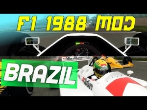 F1 1988 MOD Season - F1 Game Codemasters - Ayrton Senna Interlagos - F1 2015 Pro Season Style!!