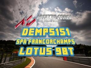 Assetto Corsa Lotus 98T, Spa-Francorchamps