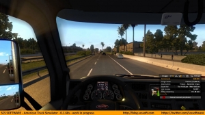 American Truck Simulator - Alpha build 0.1.60 gameplay