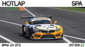 Project Cars - Hotlap Spa | BMW Z4 GT3 - 2:17.308