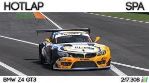 Project Cars - Hotlap Spa | BMW Z4 GT3 - 2:17.308