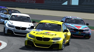 Assetto Corsa Multiplayer: BMW M235i lead battle highlights (60fps)
