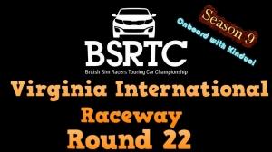 iRacing BSRTC Season 9 Round 22 from Virginia International Raceway