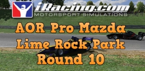 iRacing AOR Pro Mazda round 10 from Lime Rock Park - Who put that wall there!