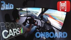 Project CARS | 3xLCD onboard Fanatec ClubSport  | Lancer EVO X at Oschersleben| 60 fps