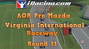 iRacing AOR Pro Mazda round 11 from Virginia International Raceway