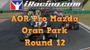 iRacing AOR Pro Mazda round 12 from Oran Park