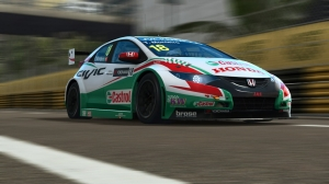 RaceRoom: Honda Civic WTCC14 at Macau GP Circuit: Onboard Hotlap
