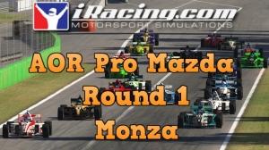 iRacing AOR Pro Mazda Championship S3 Round 1: Monza