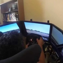 GoPro Hero 3+ test  Assetto Corsa triple screen Alfa 155 v6 DTM  a  Silverstone