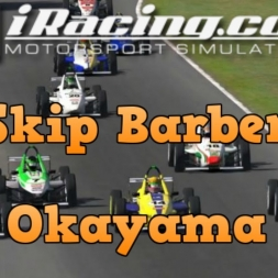 iRacing Official Skip Barber race from Okayama - Wheel to wheel action