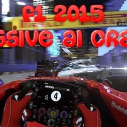 F1 2015 Singapore Murdered by the AI (Big Crash)