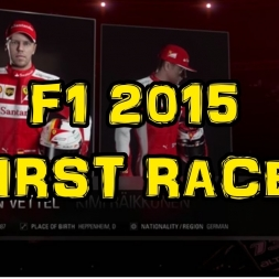 F1 2015 - My First Race!!!
