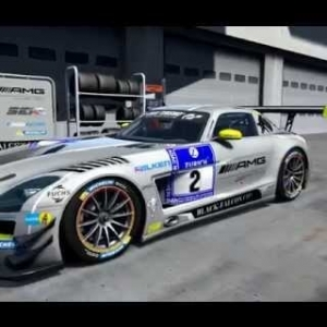 AMG SLS GT3 Black Falcon #2 2015 walk around