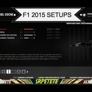 F1 2015 Game | All Setups / Todos los reglajes | (PS4 Xbox One & PC) F1 2015 Codemasters