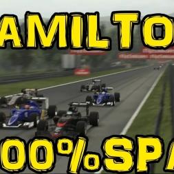 F1 2015 - Lewis Hamilton 100% Spa