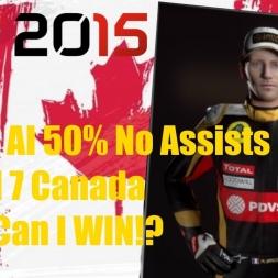 F1 2015 Canada Romain Grosjean Championship Season POLE