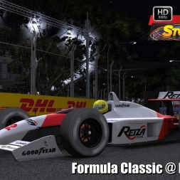 Formula Classic @ Marina Bay Driver's View - Stock Car Extreme 60FPS