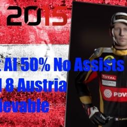 F1 2015 Austria Romain Grosjean Championship Season Unbelievable Finish