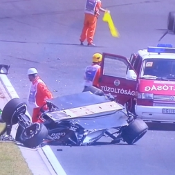 Perez crash Hungaroring FP1 * Formula one 2015