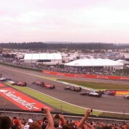 Massa crash Hockenheimring 2014 Formel 1 - Nordtribüne