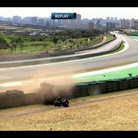 Toyota TS030 crash @ WEC - 6 Hours of Sao Paulo