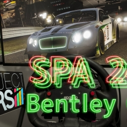 SPA24h 2015 in Bentley GT3 with Project CARS | triple screen ONBOARD | 4k #simporn