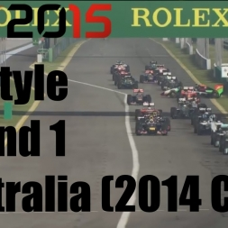 F1 2015 TV Style Series Round 1 Australia 2014 Cars
