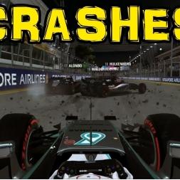 F1 2015 - Crashes Montage