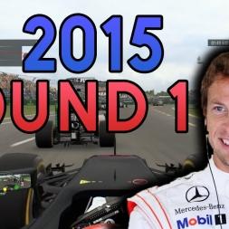 TAKEN OUT! | F1 2015 Custom Career Mode - Australia!