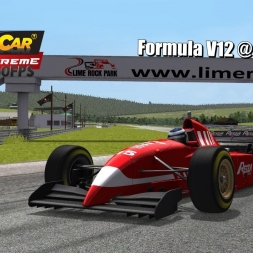 Formula V12 @ Lime Rock Driver's View - Stock Car Extreme 60FPS