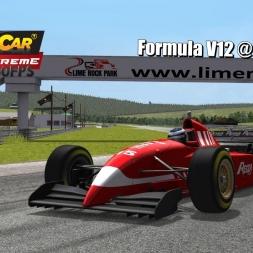 Formula V12 @ Lime Rock Driver's View - Stock Car Extreme 60FPS