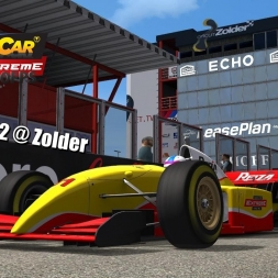 Formula V12 @ Zolder Driver's View - Stock Car Extreme 60FPS