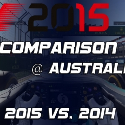 F1 2015 Car Comparison 2014 vs. 2015 Mercedes @ Australia [PC]