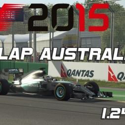 F1 2015 Australia Hotlap + Setup - 1.24,078 [PC]