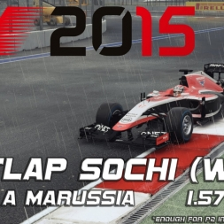 F1 2015 Hotlap Sochi 2014 with a Marussia - 1.57,760 (wet)(Leaderboard P2)[PC]