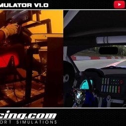 MOTION SIM 2 DOF  FIRST TEST -  IRACING BMW Z4 GT3 @ SPA