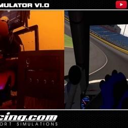 MOTION SIM 2 DOF  DIY IRACING NASCAR A CHARLOTTE