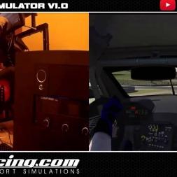 MOTION SIM DIY - IRACING ASTON MARTIN DBR9 GT1  INTERLAGOS