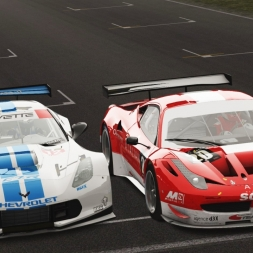 Assetto Corsa Multiplayer: C7R vs 458 GT2 - My closest finish ever! (60fps)