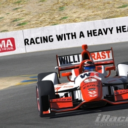 """iRacing: Racing with a Heavy Heart"" (DW12 at Sonoma Raceway - IRL)"