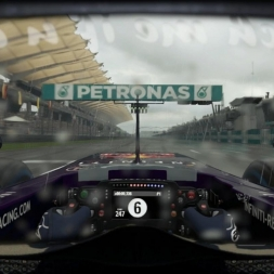 Red Bull RB11 @ Malasia (Wet & Dry) Helmet Effect - F1 2015 60FPS